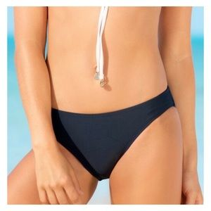 HAPARI Solid Navy Blue Hipster Bikini Bottoms NWT